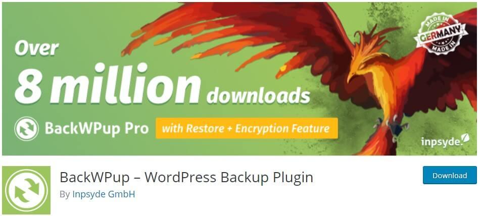 backwpup kopie bezpieczeństwa wordpress